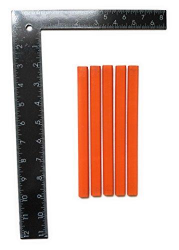 Framing square and carpenter pencil set, 8x12 L shape Rafter Square ()