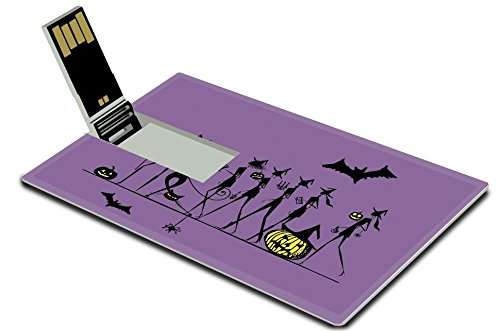[Luxlady 32GB USB Flash Drive 2.0 Memory Stick Credit Card Size Halloween holiday young witches for your design IMAGE 22745675] (Costume Design Software Free Mac)