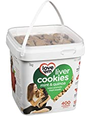 love'em Beef, Mint Quinoa Mini-Cookies Tub 1kg, 1 Piece