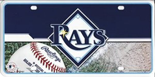MLB Tampa Bay Rays Metal Auto Tag