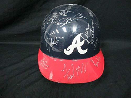 38 1994 Atlanta Braves Multi -Autographed Signed Memorabilia Abc Batting Helmet Auto - PSA/DNA Authentic