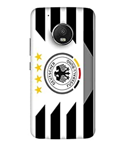 ColorKing Football Germany 18 White shell case cover for Motorola Moto G5 Plus