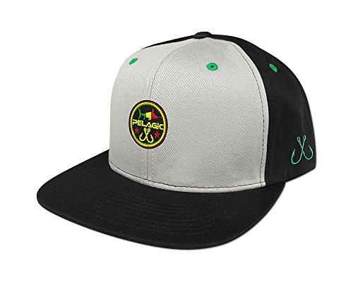 Pelagic Circle Patch Snapback Hat - One size fits all - Rasta