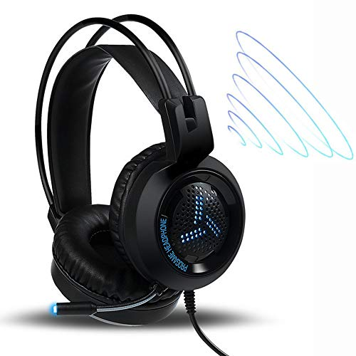 Dayangiii PS4 Gaming Headset, PC Casque Wired Headphone Stereo Headset with Microphone for The Xbox One/Laptop Tablet ()