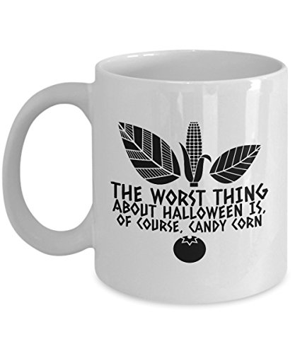 Zane Wear The worst thing about Halloween is of course candy corn - Coffee Mug Cup -