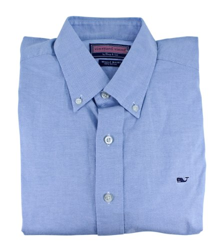 Vineyard Vines Mens Whale Shirt Buttondown Oxford (Coastline, Small)