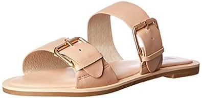 Skin Women's Duke Fashion Sandals, Nude, 6 AU (36 EU)