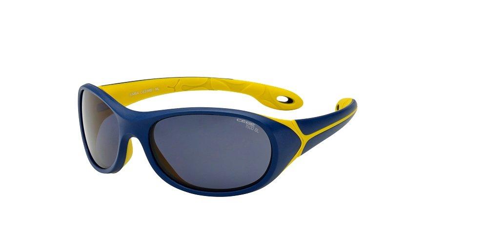 Cebe Kids CBSIMB1 Simba Sunglass 5-7 Years Matt Night Blue Yellow
