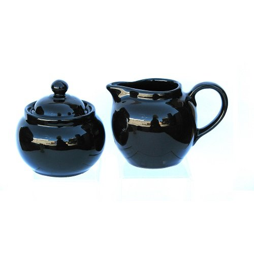 Hand Made Brown Betty Teapot Cream and Sugar in Traditional Rockingham Brown Cauldon Ceramics