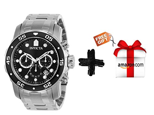Invicta Men's 0069 Pro Diver Collection Stainless Steel Watch + Free Gift