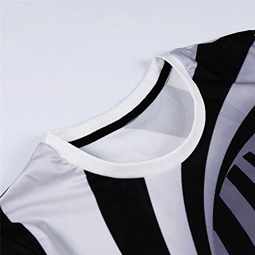 Unisex Divertente Donna 3 Manica T 3d Stampa Corta Uomo Estate Maglietta shirt qvE1A
