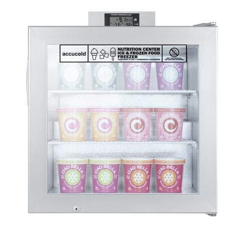 - Summit - SCFU386 - Glass Door Compact Display Freezer
