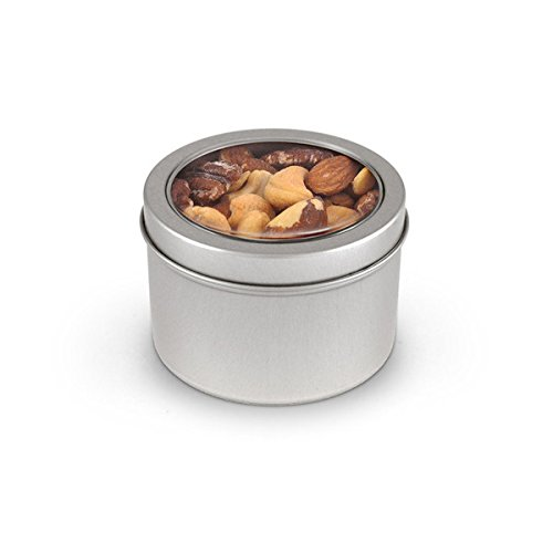 Deluxe Mixed Nuts, Round Window Medium Tin 48ct/5.0oz by In-Room Plus, Inc.
