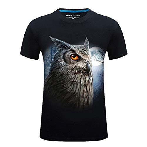 Men's New Summer Printed Casual Short Large Size Round Neck T-Shirt -