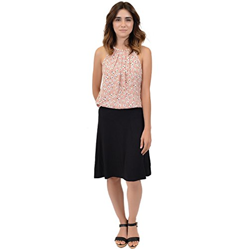 Stretch is Comfort Women's A-Line Skirt Black Large by Stretch is Comfort (Image #1)