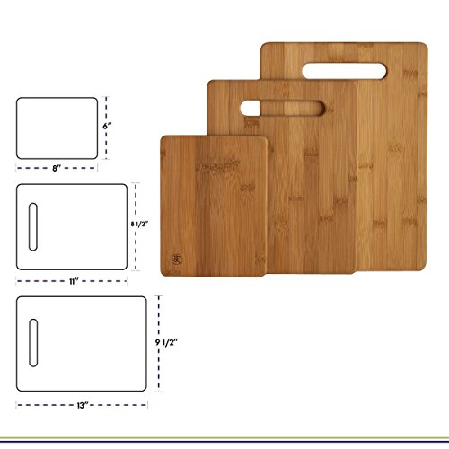 Totally Bamboo 3 Piece Bamboo Cutting Board Set Review