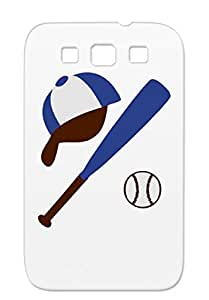 Baseball Sports Baseball Bat Ball Cap Navy Protective Hard Case For Sumsang Galaxy S3