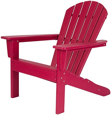 Shine Company 7616CP Seaside Adirondack Chair, Chili Pepper