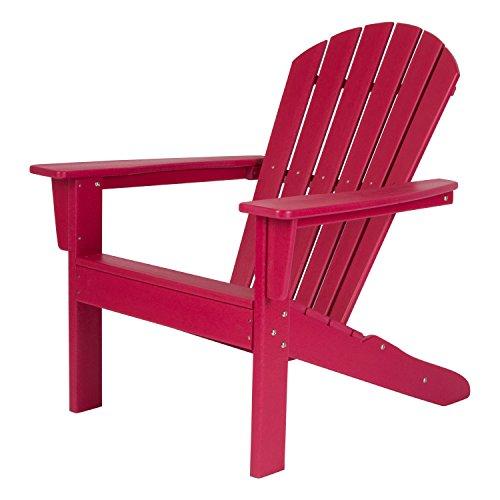Shine Company 7616CP Seaside Adirondack Chair, Chili Pepper