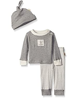 Organic Tee, Pant and Hat Set