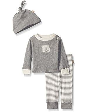 Organic Tee, Pant and Hat Set