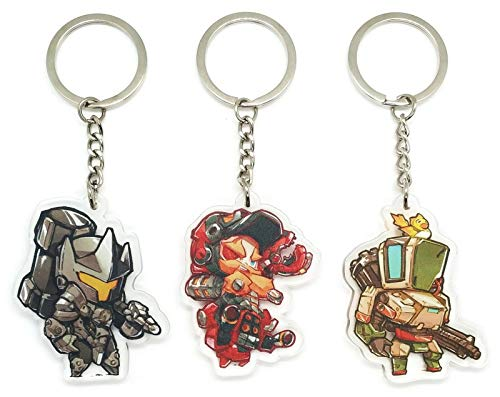 EBTY-Dreams Inc. - Set of 3 Overwatch Video Game Acrylic Keychain Torbjorn, Reinhardt, Bastion (Overwatch Game Of The Year Edition Upgrade)