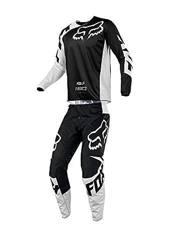 Fox Racing 2018 180 Race Jersey/Pants Adult Mens Combo Offroad MX Gear Motocross Riding Gear Black (Fox Jersey Mx)