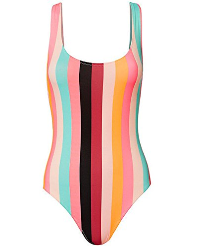 Tempt Me Colorful Backless Monokini