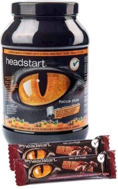 Headstart Kombi - 1500g Headstart Focus Plus + 5 x 30g Headstart Aktiv Plus Riegel (Tropical Citrus-Kiwi)