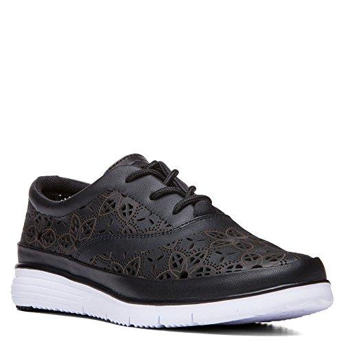 Propet Vrouwen Harper Leer, Eva Mode Sneakers Zwart