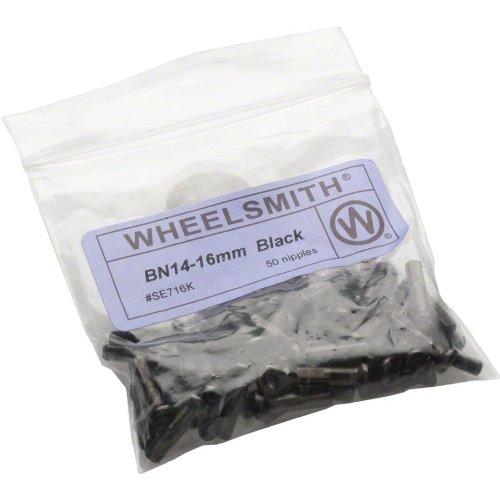 (Wheelsmith 14g brass nipple, 16mm - black bag/50)