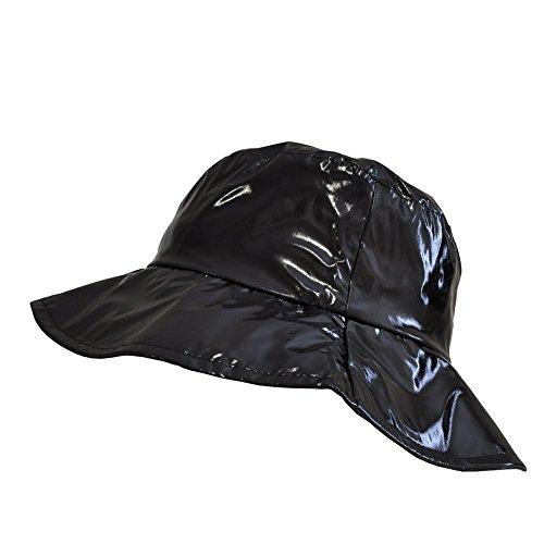 TOUTACOO Wide-Brimmed Vinyl Rain Hat .Black