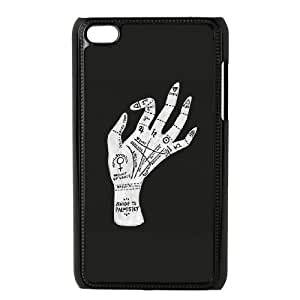 iPod Touch 4 Case Black Palm Reading A3R5BJ