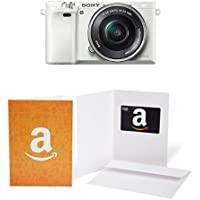 Sony Alpha a6000 Mirrorless Digital Camera with 16-50mm Power Zoom Lens (White) + $50 Gift Card