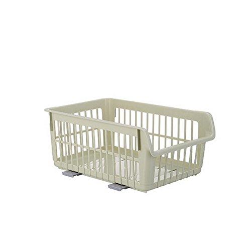 fengg2030shann pueden ser superponen lavandería accommodated Cestas de un guante Cestas de plástico Cocina Frutas...