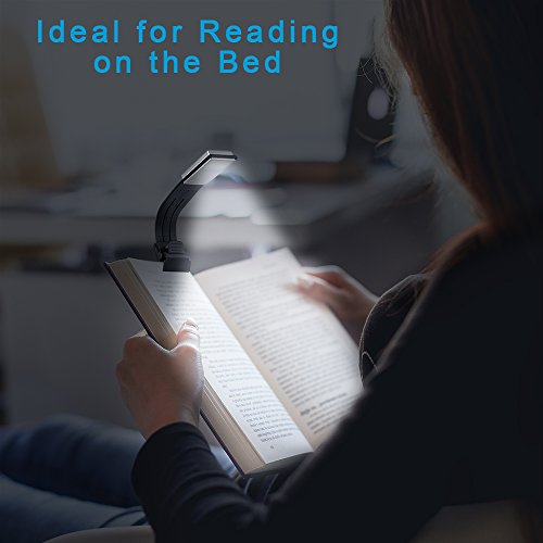 book light hsctek reading light double as bookmark with. Black Bedroom Furniture Sets. Home Design Ideas