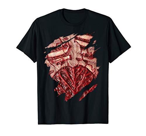 Scary Fresh Zombie Chest Halloween Costume T-Shirt ()