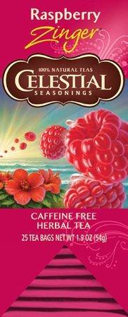 Celestial Seasonings, FS, Raspberry Zinger Herbal Tea, 25 Count box Celestial Seasonings Raspberry Tea