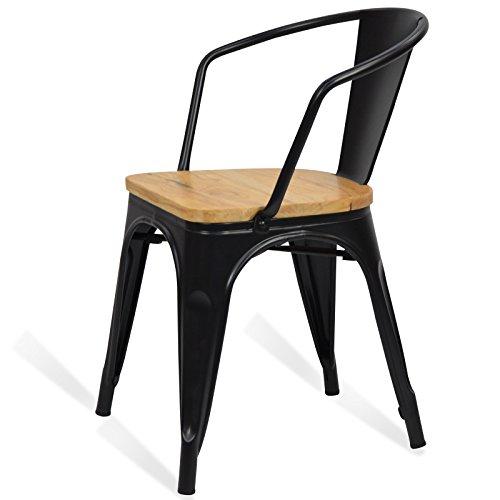 Santani Mobili Chaise En Mtal Tolix Style Accoudoir Wood