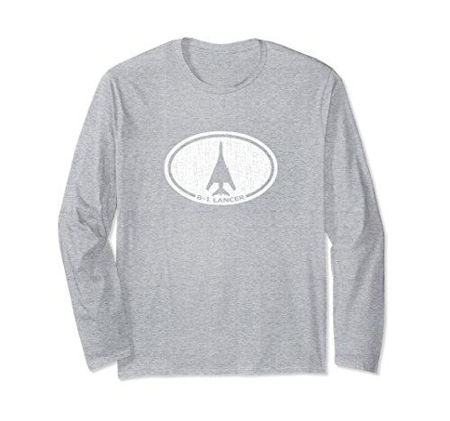 Unisex B-1 Lancer Heavy Bomber Airplane Long Sleeve T-Shirt XL: Heather (Bomber Long Sleeve T-shirt)