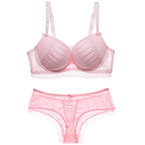 (Scarleti 1 Set Women's Sexy Bra-Ladies Lace Underwire Push-up Bra&Everyday Bras (75B,)