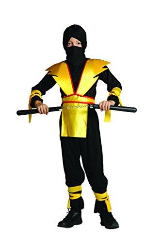 RG Costumes Ninja Master Costume, Black/Yellow, Large]()