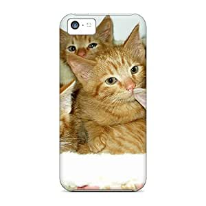 Durable Case For The Iphone 5c- Eco-friendly Retail Packaging(4 Adorable Kittens In A Basket)