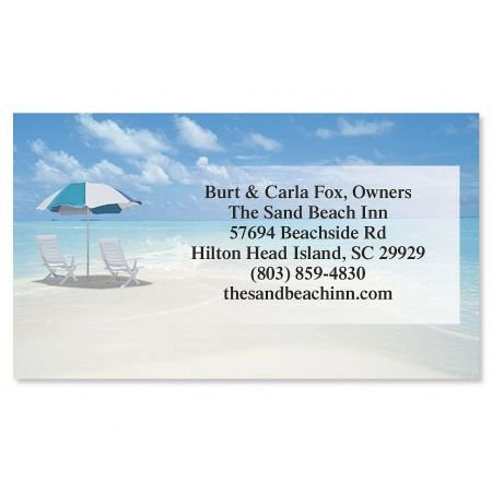 Calm Seas Business Cards - Set of 250 2'' x 3-1/2'' custom business card design; 80# Cover Stock, Opaque, Matte