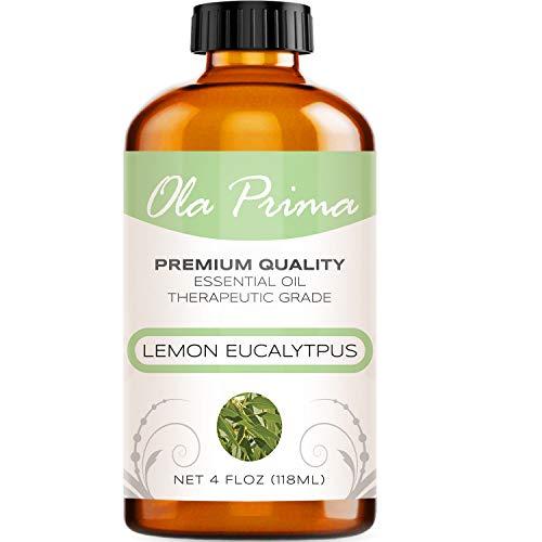 4oz - Premium Quality Lemon Eucalyptus Essential Oil (4 Ounce Bottle with Dropper) Therapeutic Grade Lemon Eucalyptus Oil