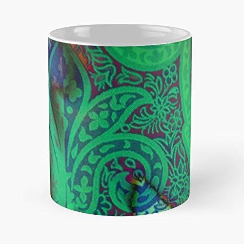 Ankha Desh Paisley Sari Green Red Coffee Mugs Best Gift 11 Oz