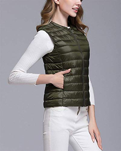 Piumino Piumino Monocromo Rotondo Ragazza Trapuntato Collo Prodotto Armeegrün Canottiera Cappotto Autunno Ultralight Fit Smanicato Gilè Invernali Donna Corto Slim Gilet Packable Eleganti Piumino Plus rwOrqf1xP