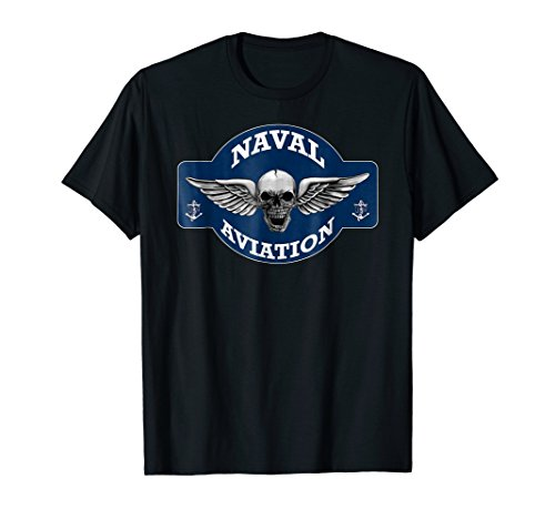 NAVAL AVIATION FLYING SKULL T-SHIRT