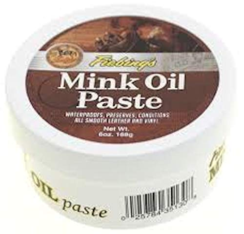 - Fiebing's Mink Oil Paste, 6 Oz. - Softens, Preserves and Waterproofs Smooth Leather and Vinyl,One Size
