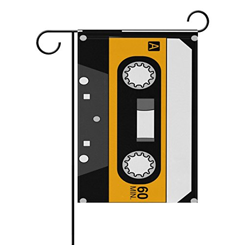 """LEISISI Record Tape Garden flag 28""""X40"""" Two Sided Yard Decor"""